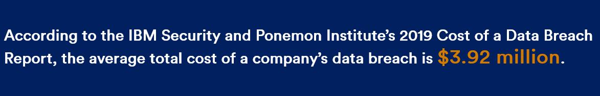IBM Security - Ponemon Institute - cost of a data breach 2019
