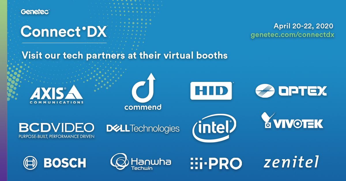 Genetec Connect'DX partner booths