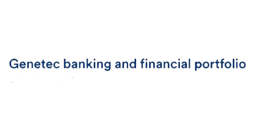 Genetec banking and financial portfolio