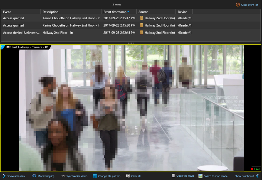 Genetec video anonymization