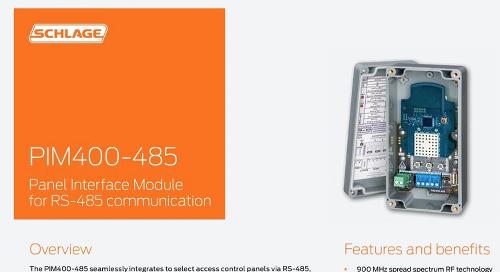 Allegion Schlage PIM400-485 Panel interface module