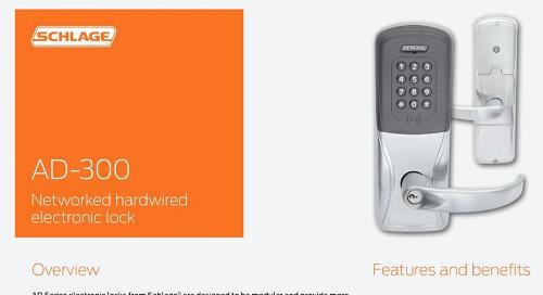 Allegion Schlage AD-300 Networked hardwired electronic lock