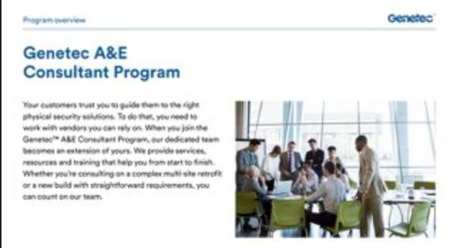 Genetec A&E Consultant Program