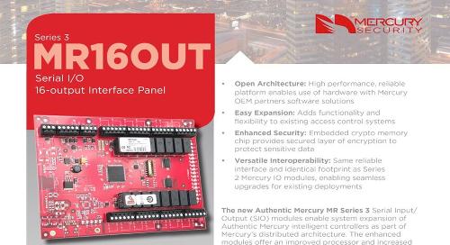 Mercury MR16OUT Serial I/O 16-output interface panel