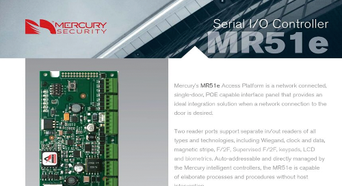 Mercury MR51e, single-door, POE capable interface panel