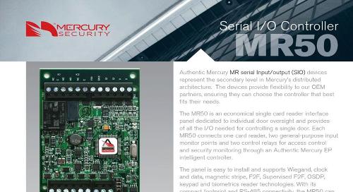 Mercury MR50 single card reader interface panel