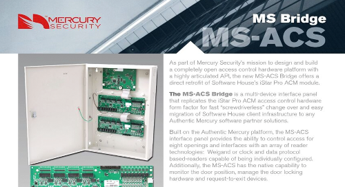 Mercury MS-ACS Bridge multi-device interface panel