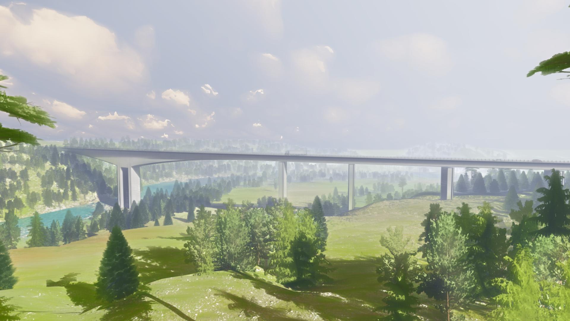 Rendering of Randselva Bridge in Norway