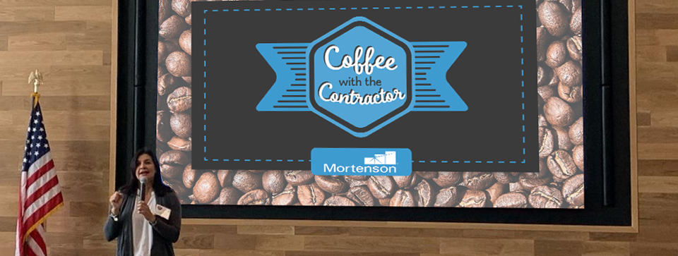 Ale Spray presents at Mortenson's Coffee with the Contractor event in Denver