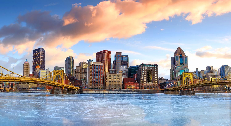 Pittsburgh skyline and bridges