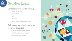 The key to getting more leads is an ongoing and consistent communications program