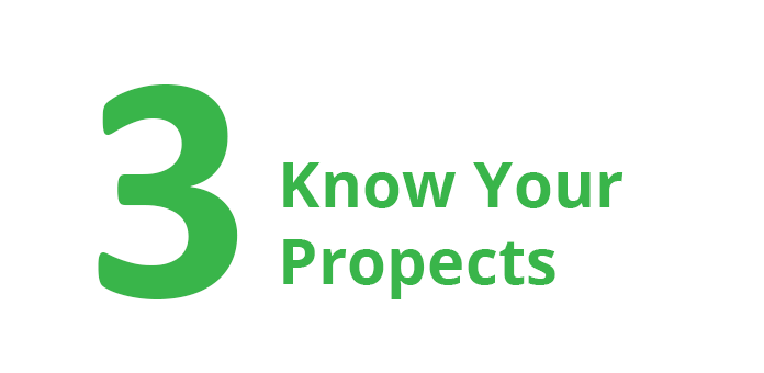 3. Know your Prospects