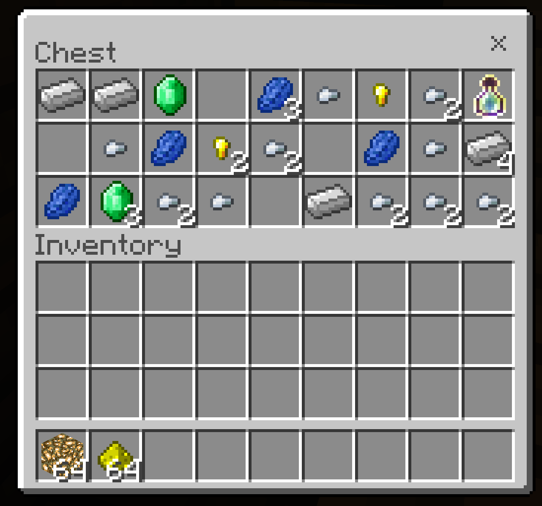 An image of a Minecraft: Education Edition inventory screen with several items