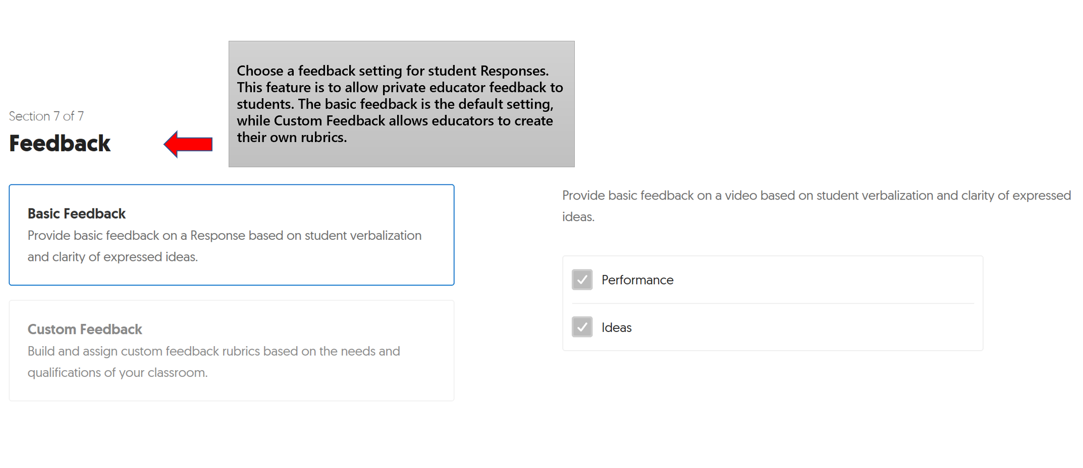 An image of the Flipgrid Feedback interface