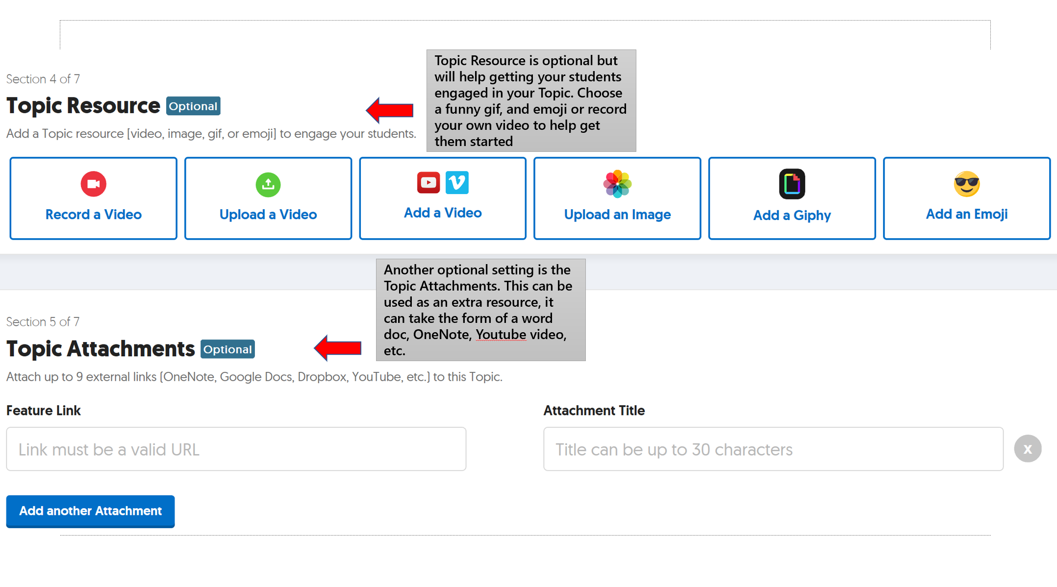 An image of the Flipgrid Topic Resource interface