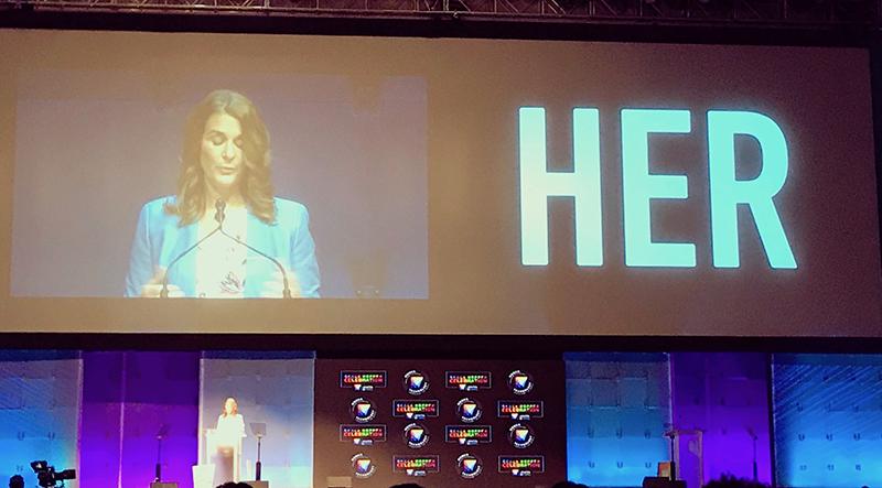Melinda Gates keynote.