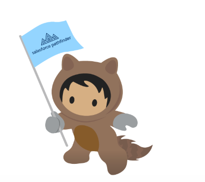 Salesforce Pathfinder Raccoon Mascot Graphic