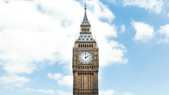 Big Ben clock tower in London, England