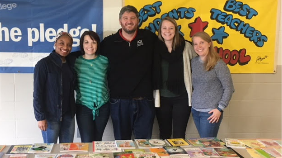Appirio employees at the First Book event at the Daniel Webster School in Indiana