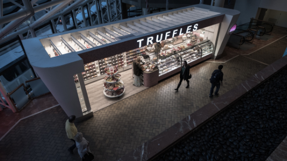 A smaller format or pop-up store trend selling truffles and chocolates