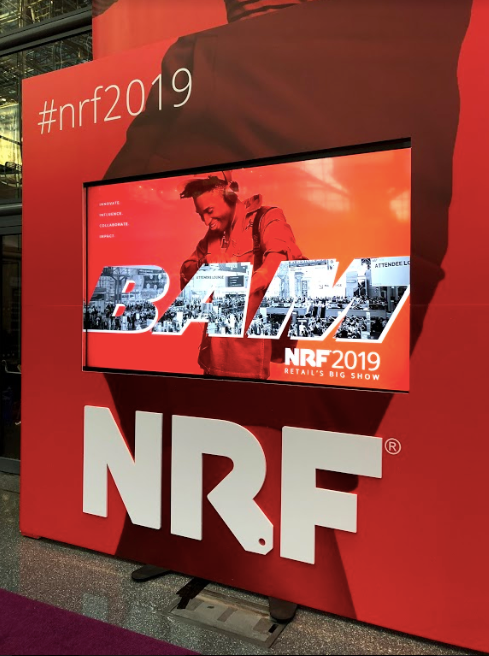 Signage from NRF2019 at the Javits Center in New York