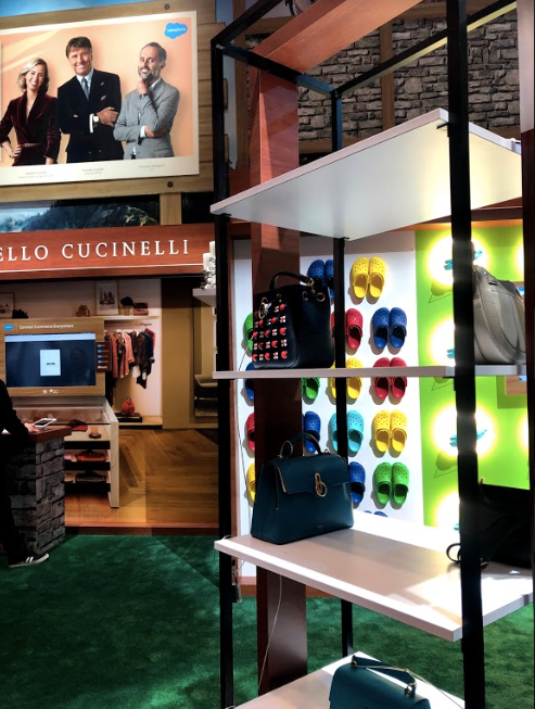 Brunello Cucinelli display and demo at Salesforce at NRF 2019