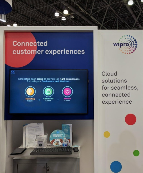 Wipro connected customer experiences booth at NRF2019