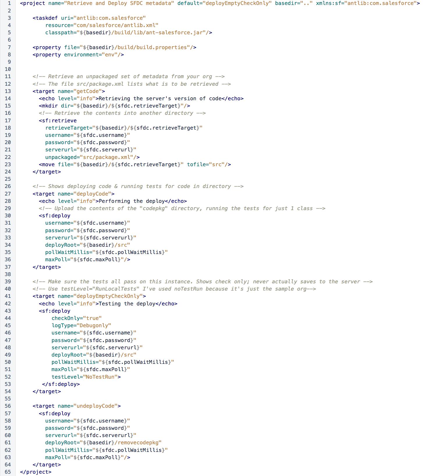 Build XML