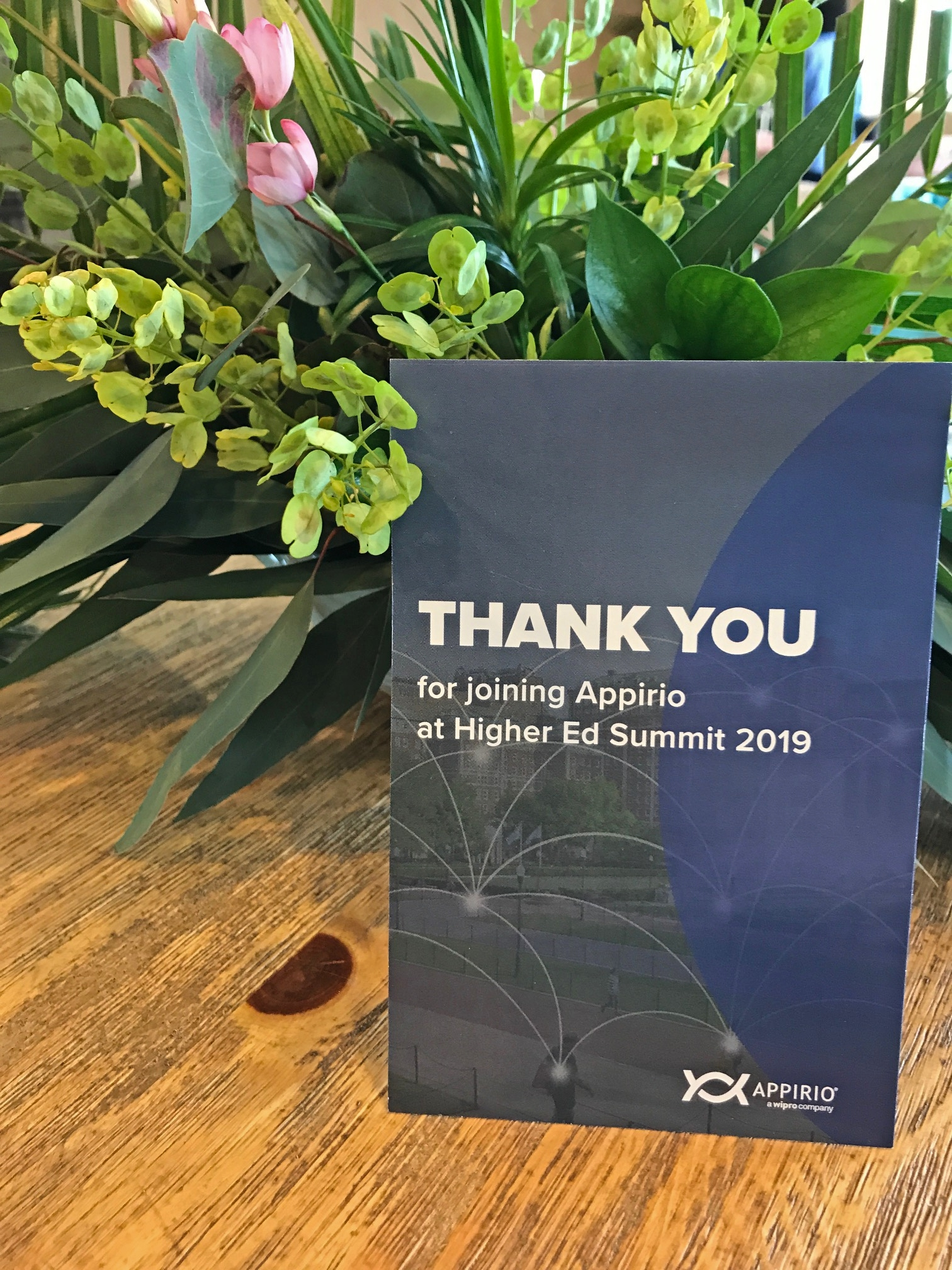 Appirio Thank You Card for Attendees at the Higher Ed Summit 2019 in San Diego