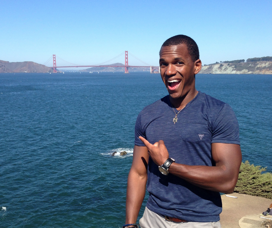 Michael Henry standing in front of the Golden Gate Bridge in San Franciso
