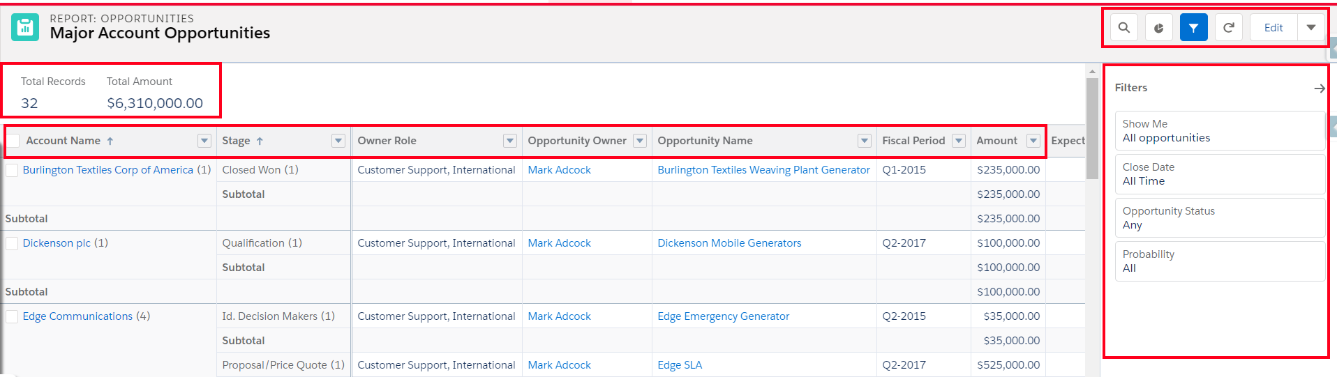 Enhanced Run Page Upgraded Salesforce Lightning Reports and Dashboards