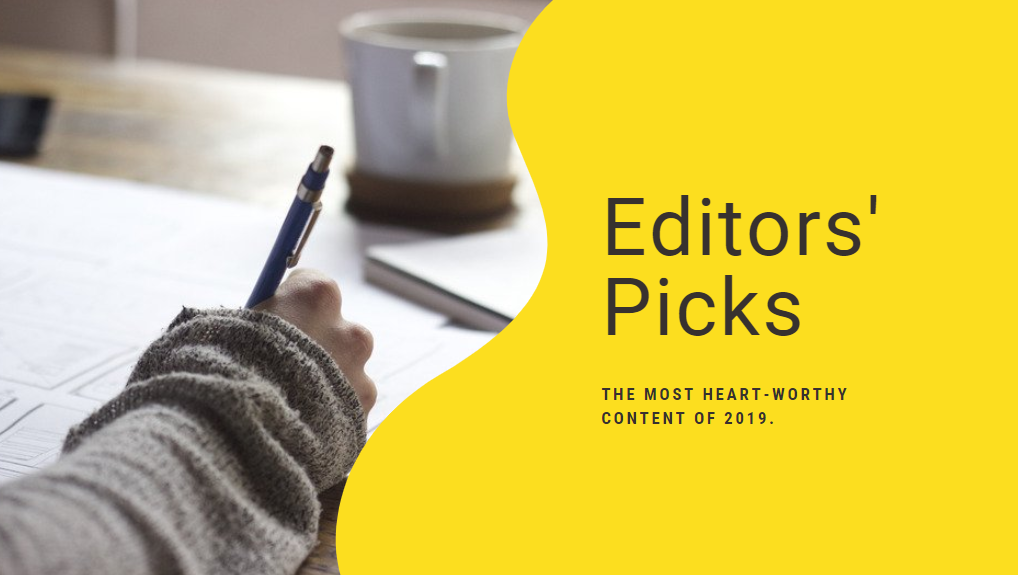 woman writing top editorial picks for the year 2019