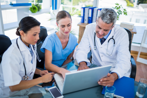 Doctors engaging with patient data