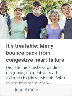 It's treatable: Many bounce back from congestive heart failure