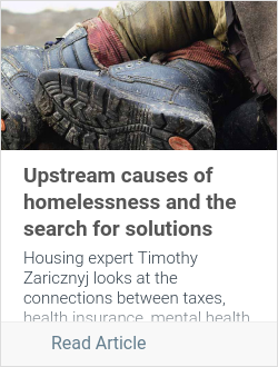 Upstream causes of homelessness and the search for solutions