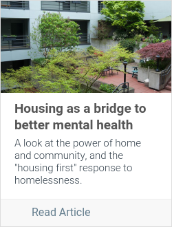 Housing as a bridge to better mental health