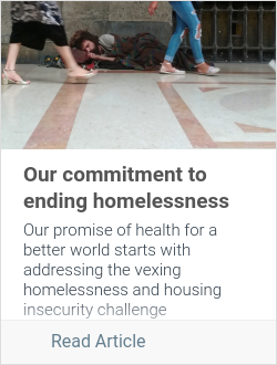 Our commitment to ending homelessness