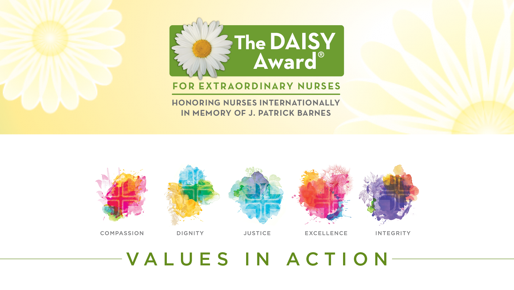 Daisy Award-Values in Action Banner
