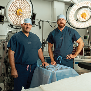 Matthew Powers, MD, and Jonathan Cash, MD, medical directors for cardiovascular surgery, perform many advanced procedures, such as minimally invasive valve repair and replacement.