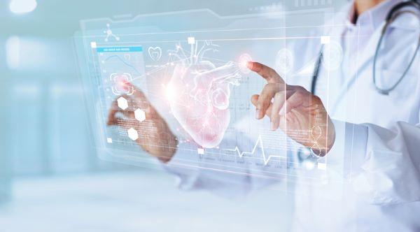 Doctor with innovative cardiovascular technology