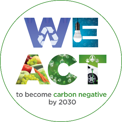 WeACT logo showing how Providence will become carbon negative by 2030