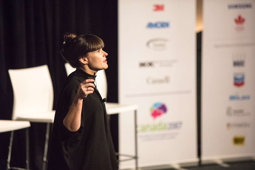 Jennifer speaking at Canada 2067 event