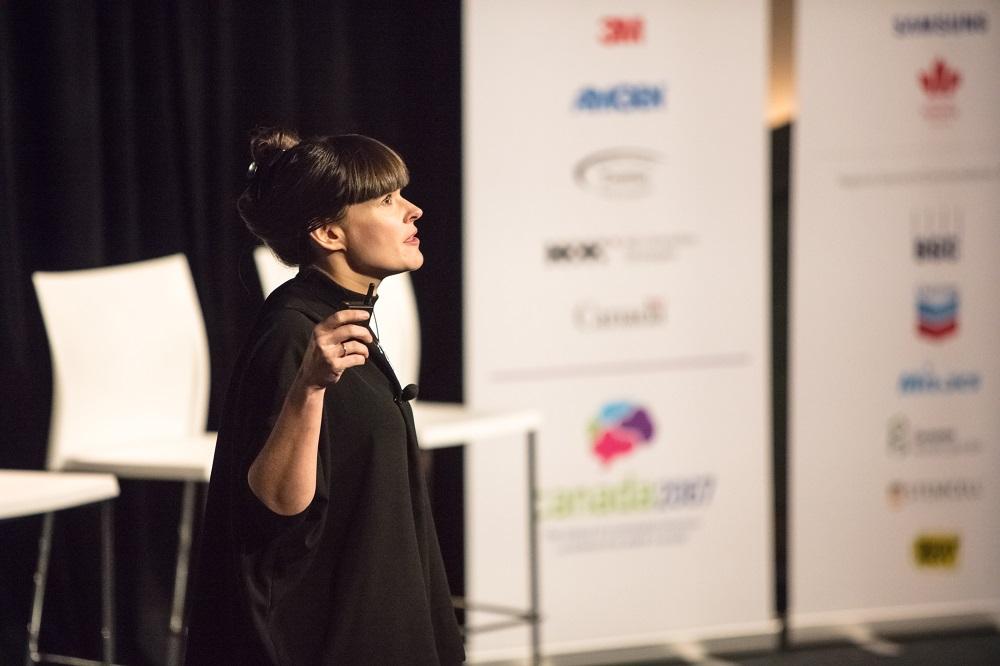 Jennifer speaking at Canada 2067 event