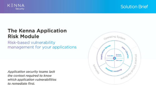 The Kenna Application Risk Module Solution Brief