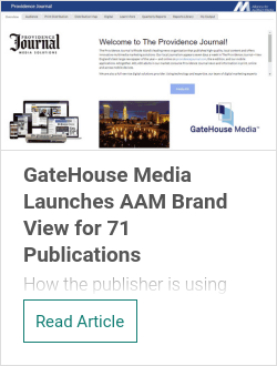 GateHouse Media Launches AAM Brand View for 71 Publications