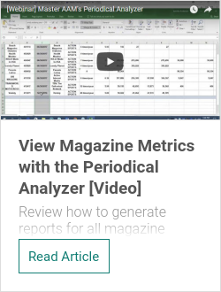 View Magazine Metrics with the Periodical Analyzer [Video]