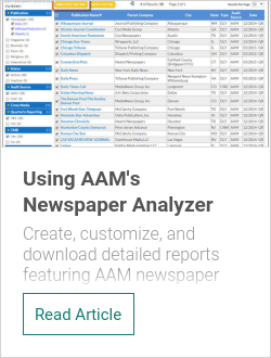 Using AAM's Newspaper Analyzer