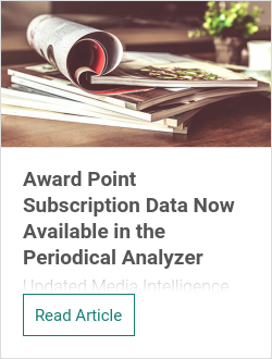 Award Point Subscription Data Now Available in the Periodical Analyzer