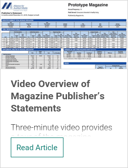 Video Overview of Magazine Publisher's Statements