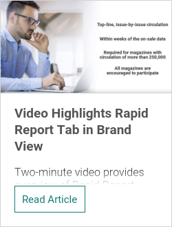 Video Highlights Rapid Report Tab in Brand View